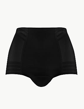 Firm Control Magicwear™ Geometric Low Leg Knickers, BLACK, catlanding