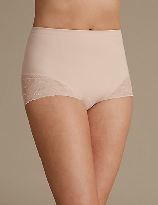 Secret Slimming™ Low Leg Knickers, ALMOND, catlanding
