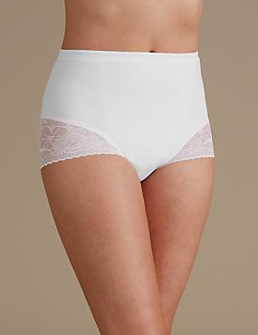 Secret Slimming™ Low Leg Knickers, WHITE, catlanding
