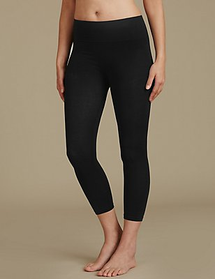 Secret Slimming™ Modal Rich Cropped Leggings, BLACK, catlanding