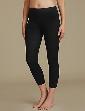 Secret Slimming™ Modal Rich Cropped Leggings, BLACK, catlanding