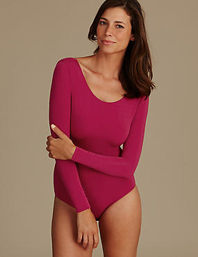 Light control Long Sleeve Body, DARK CRANBERRY, catlanding