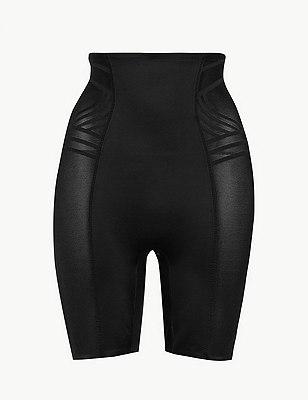Firm Control Magicwear™ Geometric Waist & Thigh Cincher, BLACK, catlanding