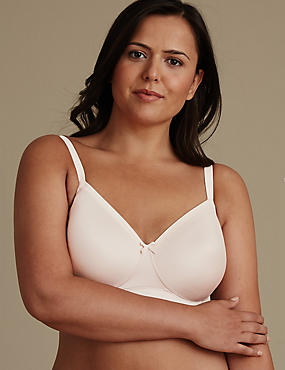Post Surgery Sumptuously Soft Padded Full Cup Bra A-E, FAWN, catlanding