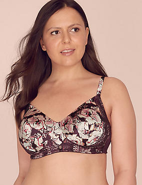 Post Surgery Lace Padded Bra A-DD with Silk, DUSTED PINK, catlanding