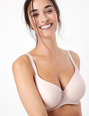 Sumptuously Soft Ultimate Comfort Underwired Full Cup T-Shirt Bra A-DD, PALE ROSE, catlanding
