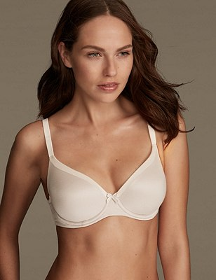 Sumptuously Soft Padded Full Cup T-Shirt Bra A-DD, FAWN, catlanding