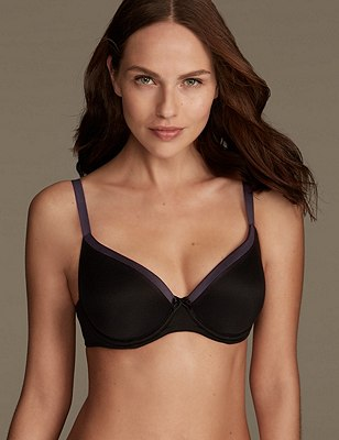 Sumptuously Soft Padded Full Cup T-Shirt Bra A-DD, BLACK MIX, catlanding