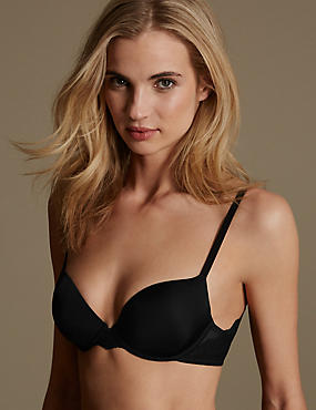 Smoothlines™ Lace Wing Padded Balcony Bra A-E, BLACK, catlanding
