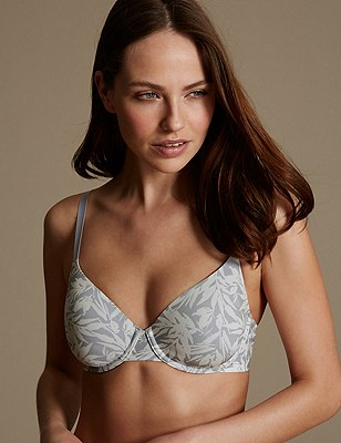 Cool Comfort Lite™ Underwired Padded Full Cup T-Shirt Bra A-E, GREY MIX, catlanding