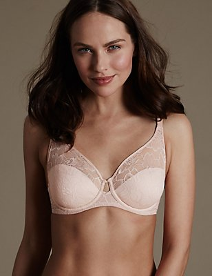 Youthful Lift™ Lace Non Padded Full Cup Bra , ALMOND MIX, catlanding