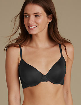 Smoothlines™ Padded Full Cup Bra A-E, BLACK, catlanding