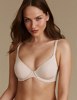 Smoothlines™ Smoothing Back Full Cup Bra A-E, ALMOND, catlanding