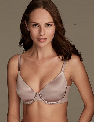 Smoothlines™ Smoothing Back Full Cup T-Shirt Bra A-E, PRALINE, catlanding