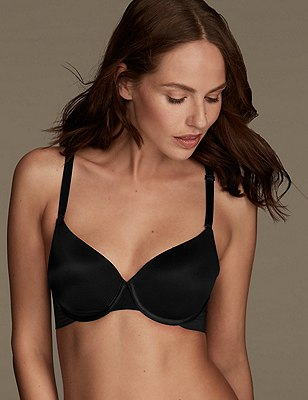 Smoothlines™ Smoothing Back Full Cup T-Shirt Bra A-E, BLACK, catlanding