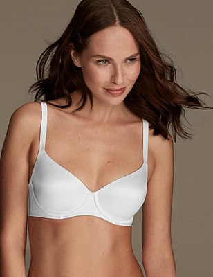 Smoothlines™ Smoothing Back Full Cup T-Shirt Bra A-E, WHITE, catlanding