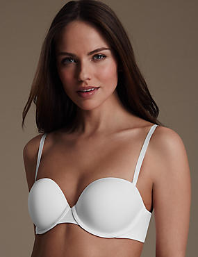 Cool Comfort Lite™ Underwired Padded Strapless Bra A-DD, WHITE, catlanding