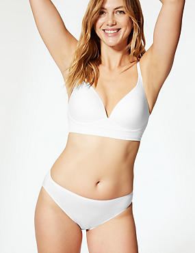 Longline Cross Over Padded Plunge Bra A-E, WHITE, catlanding
