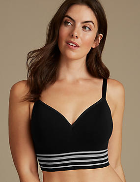 Modal Blend Padded Full Cup T-Shirt Bra A-E, BLACK, catlanding