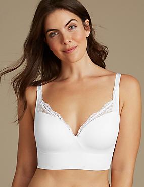 Padded Plunge T-Shirt Bra A-E, WHITE, catlanding
