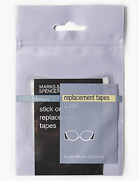 2 Pairs of Replacement Tapes, CLEAR, catlanding