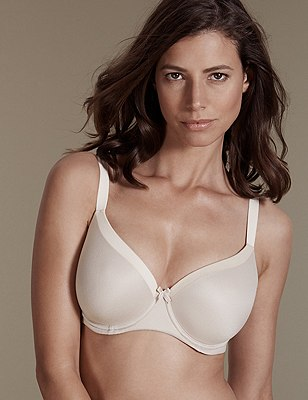 Sumptuously Soft Underwired Padded Full Cup T-Shirt Bra DD-G, FAWN, catlanding