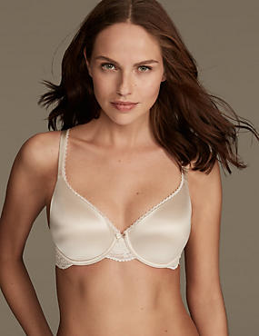 Perfect Fit Padded Full Cup T-Shirt Bra A-E, ALMOND, catlanding