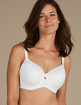 Sumptuously Soft Non-Padded Bra DD-GG, WHITE, catlanding