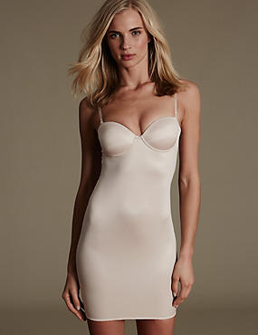 Firm Control 100 Ways to Wear Padded A-E Full Slip, ALMOND, catlanding