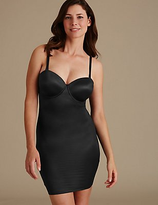 Firm Control 100 Ways to Wear Padded A-E Full Slip, BLACK, catlanding