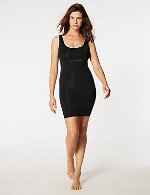 Light Control Sheer Slip with Secret Slimming™, BLACK, catlanding