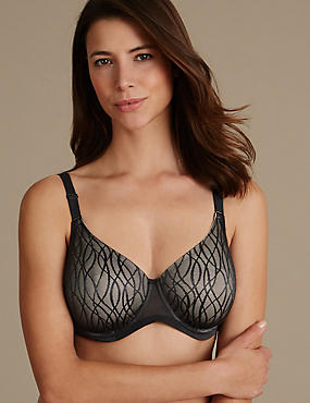 Smoothlines™ Minimiser Full Cup Bra C-G , BLACK MIX, catlanding