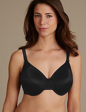 Lace Minimiser Non-Padded Full Cup Bra C-G, BLACK, catlanding