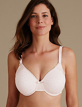 Minimiser Non-Padded Full Cup Bra C-G, ALMOND MIX, catlanding