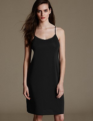 Reversible Full Slip with Cool Comfort™ Technology, BLACK, catlanding