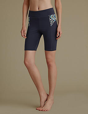 Light Control Cut and Sew Graphic Shorts, GUNMETAL, catlanding