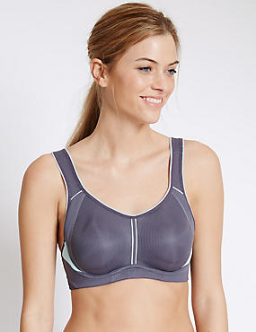 High Impact Padded Light as Air™ Spacer Sports Bra, MINT MIX, catlanding
