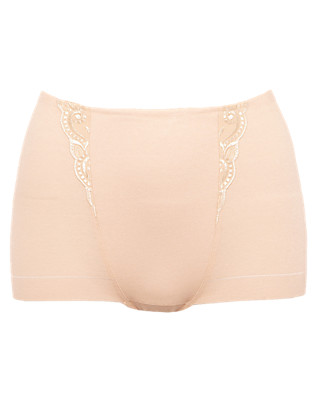 Firm Control No VPL Cotton Rich Embroidered Low Leg Knickers Clothing