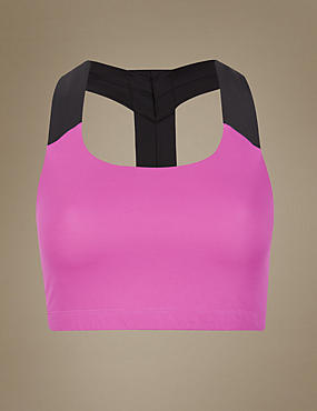 This Girl Can High Impact Non-Padded T Back Crop Top