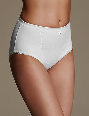 2 Pack Firm Control High Leg Knickers