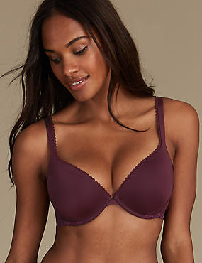 Perfect Fit Padded Push-Up Bra A-E, BLACKCURRANT, catlanding