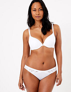 Perfect Fit Padded Push-Up Bra A-E, WHITE, catlanding