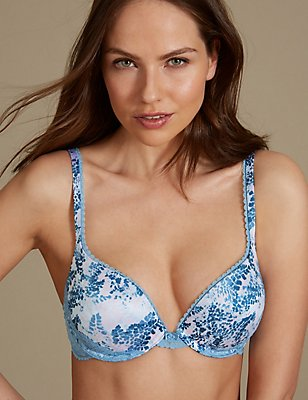 Perfect Fit Padded Push-Up Bra AA-E, SMOKEY BLUE, catlanding