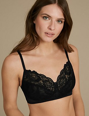 2 Pack Isabella Lace Full Cup Bra A-DD, WHITE/BLACK, catlanding