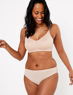 Flexi-Fit Non-Padded Full Cup Bra A-F, ALMOND, catlanding