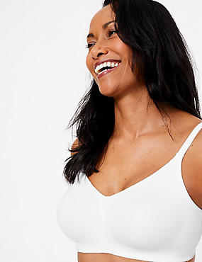 Flexi-Fit Non-Padded Full Cup Bra A-F, WHITE, catlanding