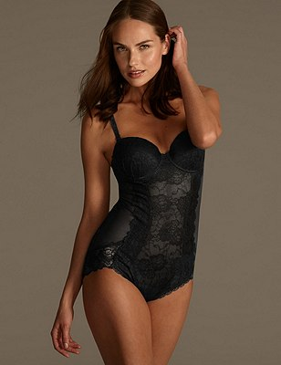 Light Control Lace B-D Body, BLACK, catlanding