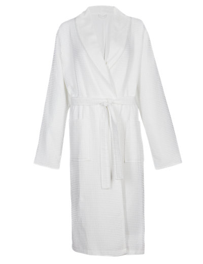 Pure Cotton Waffle Dressing Gown Clothing