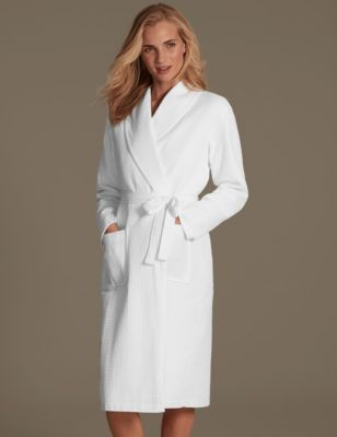 Pure Cotton Waffle Dressing Gown M Amp S