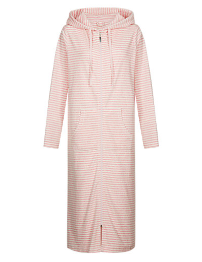 Striped Velour Dressing Gown Clothing
